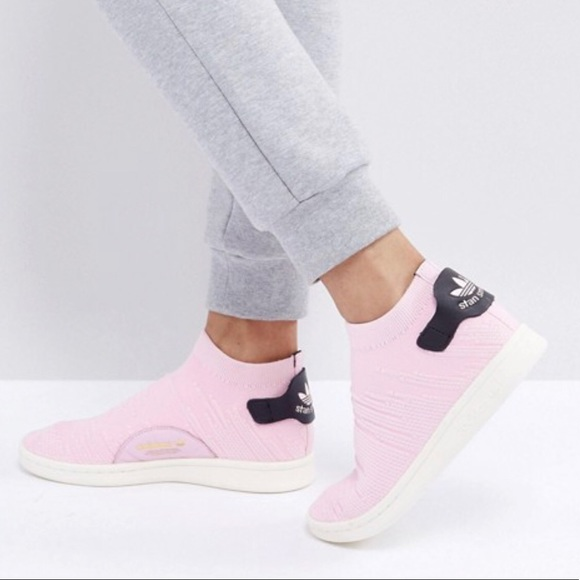 new product bf44a d80bc Adidas Stan Smith Sock Primeknit Women s Sneaker